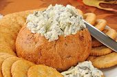 Spinach Artichoke Dip In A Bread Bowl