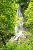 stock photo of swabian  - The waterfall of Bad Urach at the Swabian Alb - JPG