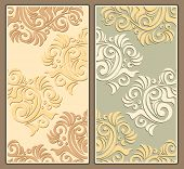 Two decorative background in pastel colors