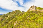 stock photo of qin dynasty  - Landscape in the Great Wall of China - JPG