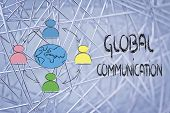 Global Business Communication, People Connected Across Globe