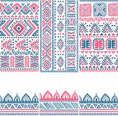 Tribal vintage ethnic banners