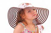 Beautiful Little Girl In A Hat