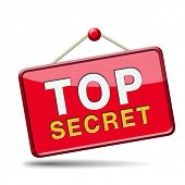 picture of top-secret  - top secret confidential and classified information private property or information icon sign or button  - JPG