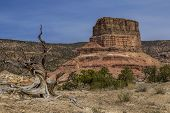 stock photo of chimney rock  - Chimney Rock at the San Rafael Swell in Emery County Utah showing Cedar Mountain in the background - JPG