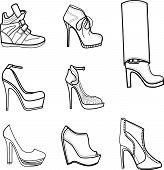 Fashion illustration of footwear
