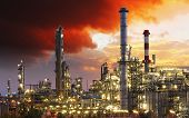 stock photo of chimney  - Oil indutry refinery  - JPG