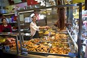 A Chinese Restaurant Offers Chinese Cookings Like Duck ,rice,noodles