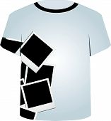 T Shirt Template- Polaroid collage