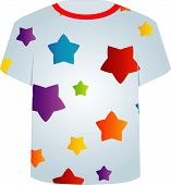 T Shirt Template- Colorful stars