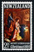 Postage Stamp New Zealand 1969 Nativity, By Federico Fiori