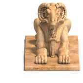 foto of sceptre  - rendering of eygptiane ramses god statue with Clipping Path and shadow over white - JPG