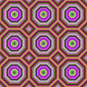 Vibrant colors octagonal shapes seamless abstract pattern.
