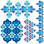Blue Ottoman Serial Patterns Eight