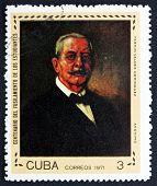 Postage Stamp Cuba 1971 Dr. Fermin Valdez Dominguez, Painting