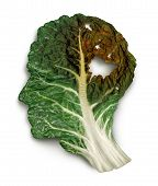 stock photo of kale  - Brain decay disease with memory loss due to Dementia and Alzheimer - JPG