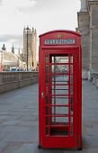 Telephone Booth Near The Houses Of Parliament