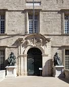 MONTPELLIER, FRANCE - AUGUST 14: University of Medicine and Cathedral St Pierre on august 14, 2013 i