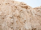 stock photo of masada  - Rock of fortress Masada. shadow side .