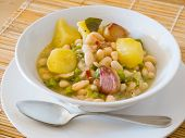 Vegetarian Asturian Bean Stew (fabada).