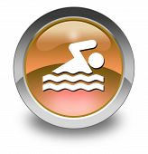 Icon Button Pictogram Swimming