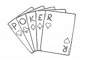 Five Poker Cards