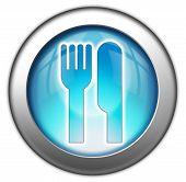 Icon Button Pictogram -Eatery Restaurant-