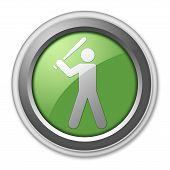 Icon Button Pictogram Baseball
