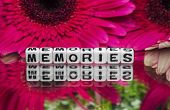 Memories Text Message With Small Red Flowers