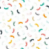 foto of flat-foot  - Feet seamless pattern and background - JPG