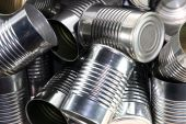 stock photo of reprocess  - Bunch of empty steel and tin cans - JPG