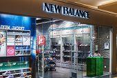 New Balance Shop Windows In A Shopping Center, Moscow