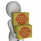 Twenty Five Percent Off Boxes Show 25  Price Markdown