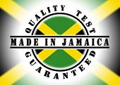 picture of jamaican flag  - Quality test guaranteed stamp with a national flag inside Jamaica - JPG