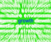 Growth Word Shows Progress Gain And Expansion