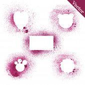 Set Grunge Shapes Background Vector