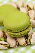 Pistachio macaroons, close up