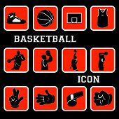 Basketball Flat Icon Set