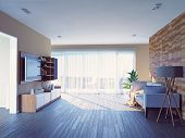 modern living room interior design (3d concept)