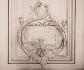 Luxury wall design with mouldings