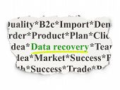 Information concept: Data Recovery on Paper background