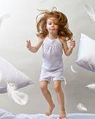 a beautiful child enjoying life