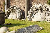 Ruins Of Sforzesco Castle In Milan