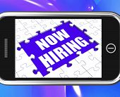 Now Hiring Tablet Shows Job Opening And Recruiting Employees