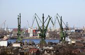 Shipyard in Gdansk, Poland, the birthplace of the Solidarity movement.  April 05th, 2014.