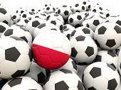 Football With Flag Of Poland