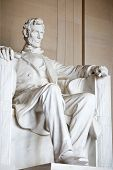 stock photo of abraham lincoln memorial  - Statue of Abraham Lincoln - JPG