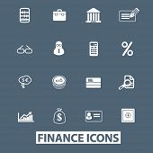 finance icons set. vector