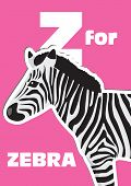 Z For The Zebra, An Animal Alphabet For The Kids