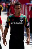 CARSON, CA - APRIL 6: Los Angeles Galaxy F Samuel (9) during the MLS game between the Los Angeles Ga